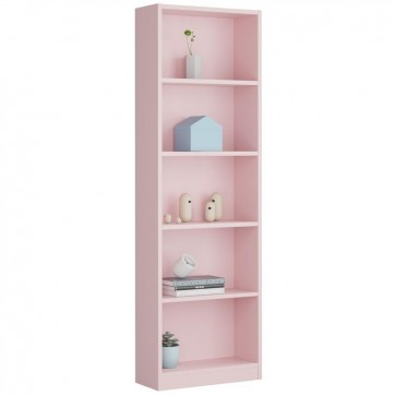 Estanteria juvenil color rosa i-Joy 52x180x25 cm