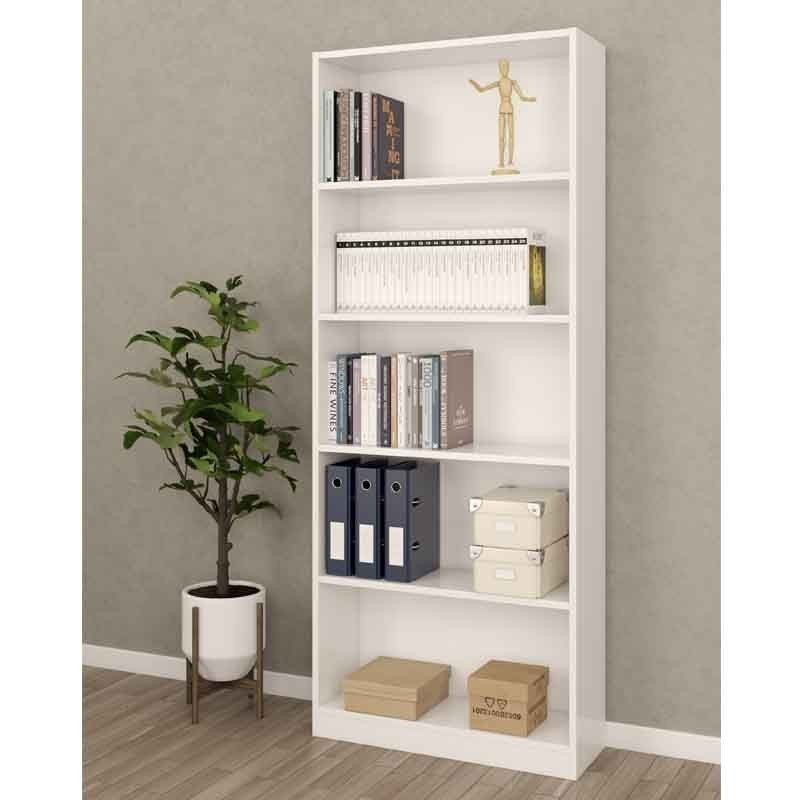 Pack muebles despacho blanco 2 estanterias 1 mesa 1 armario