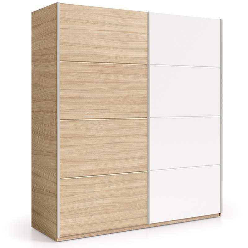 Pack dormitorio completo 150 cm blanco y nature CON SOMIER