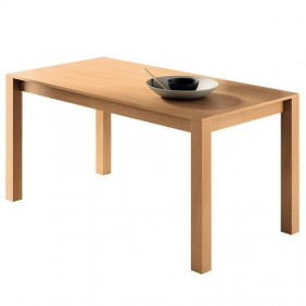 Mesa comedor fija color cerezo estilo moderno 150x80x75 cm