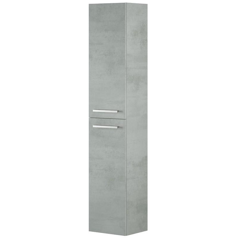 Columna baño Cemento suspendida 2 puertas 30x25x150 cm