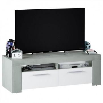 Mesa TV Cemento estilo industrial 120x42x40 cm