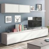 Mueble Salón Cemento Módulos Estilo Industrial 200x41 cm