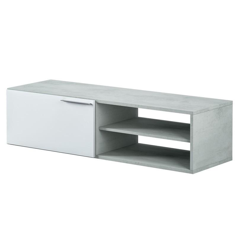 Mueble mesa TV Cemento estilo industrial 130x42x35 cm