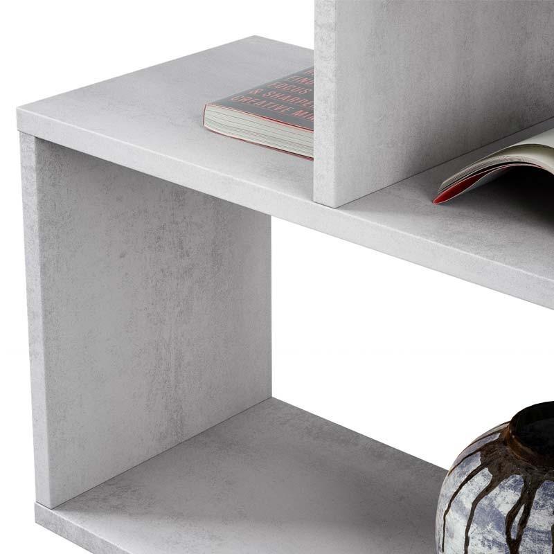 Estantería baja Athena color cemento 97x110x25 cm