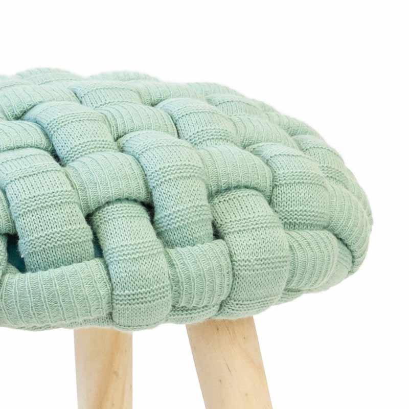 Pack 2 taburetes Trenza color verde menta 46x36 cm