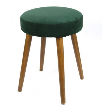 Pack 2 taburetes Velvet color verde pata madera 49x36 cm