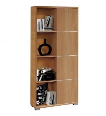 Estantería librería color cerezo Taiga 80x32x180 cm