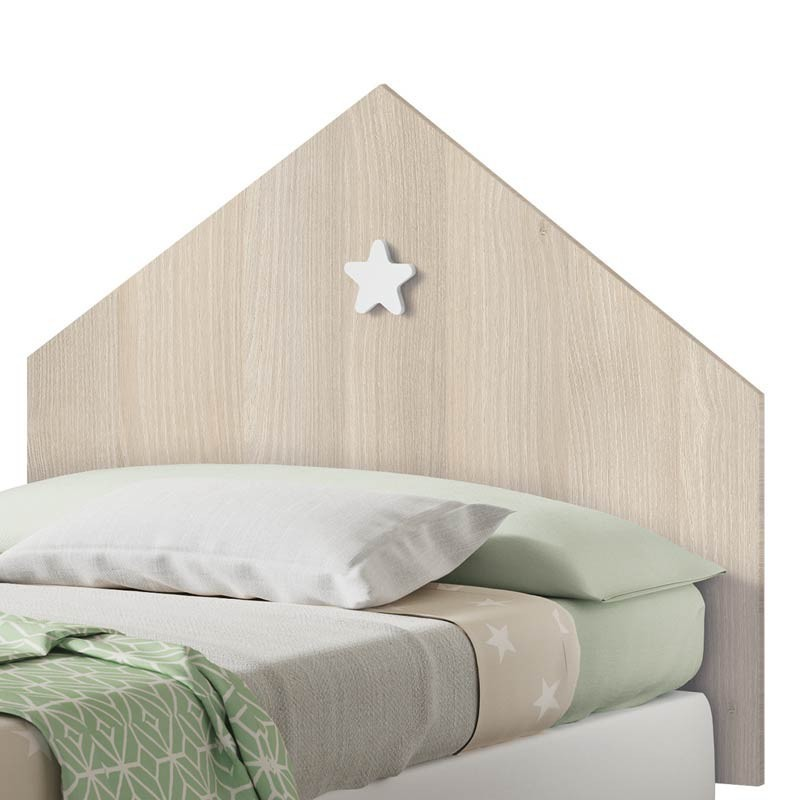 Cabezal infantil Star color roble 100 cm