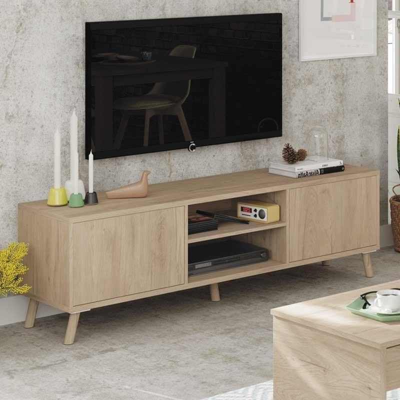 Mueble TV Noruega color roble 160x50x40 cm