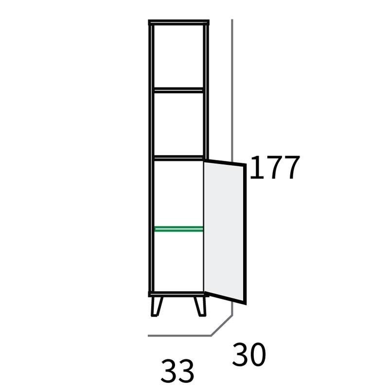 Columna baño Sinna 33x30x177 cm