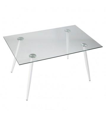 Mesa cristal transparente Aia 140x90