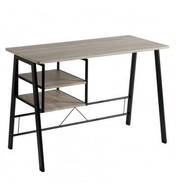 Mesa escritorio Eibar metal negro y roble 120x52x77