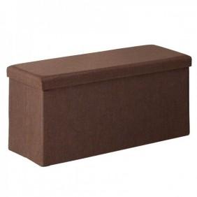 Pouf marrón rectangular con tapa 80x40