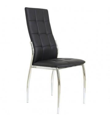 Pack 2 sillas Laci salón polipiel negro