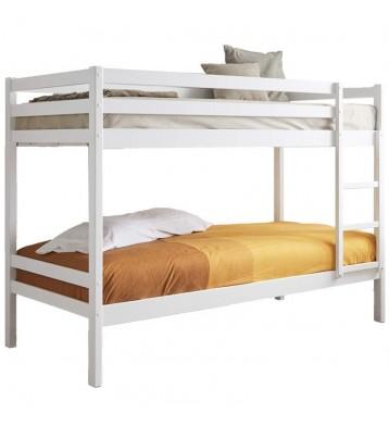 Litera 90x190 Premier color blanco de madera