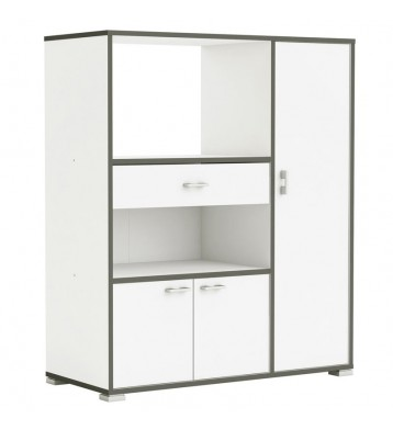 Mueble auxiliar micro 3 puertas 90x112 blanco