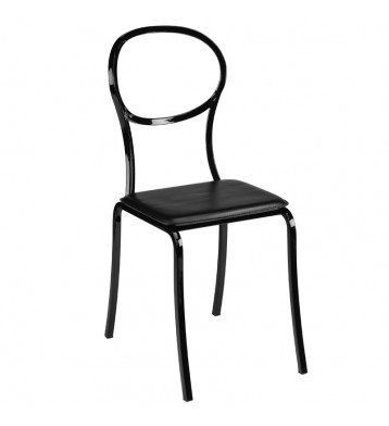 Pack 4 sillas cocina negras Bita retro