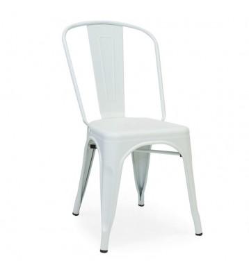 Pack 2 sillas estilo industrial Xavier blancas salón