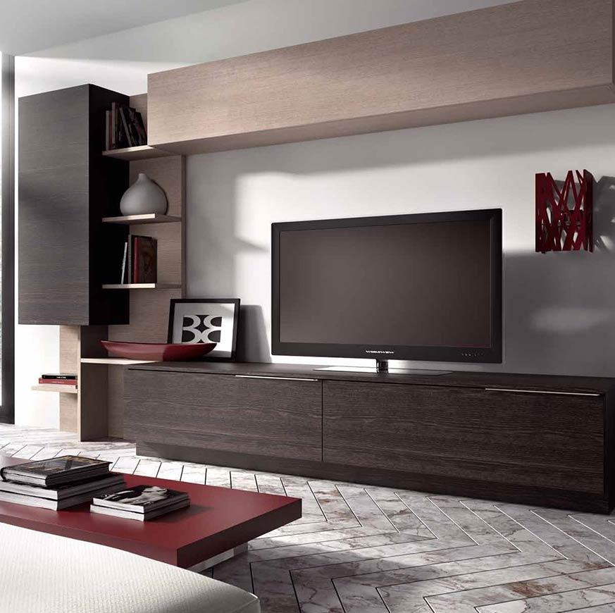 De qu color pintar un sal n con muebles wengue ideas top - Muebles grises paredes color ...