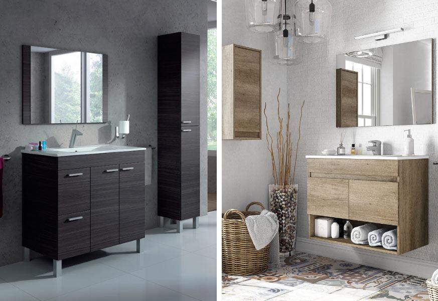 Mueble de baño con patas/ Mueble de baño suspendido