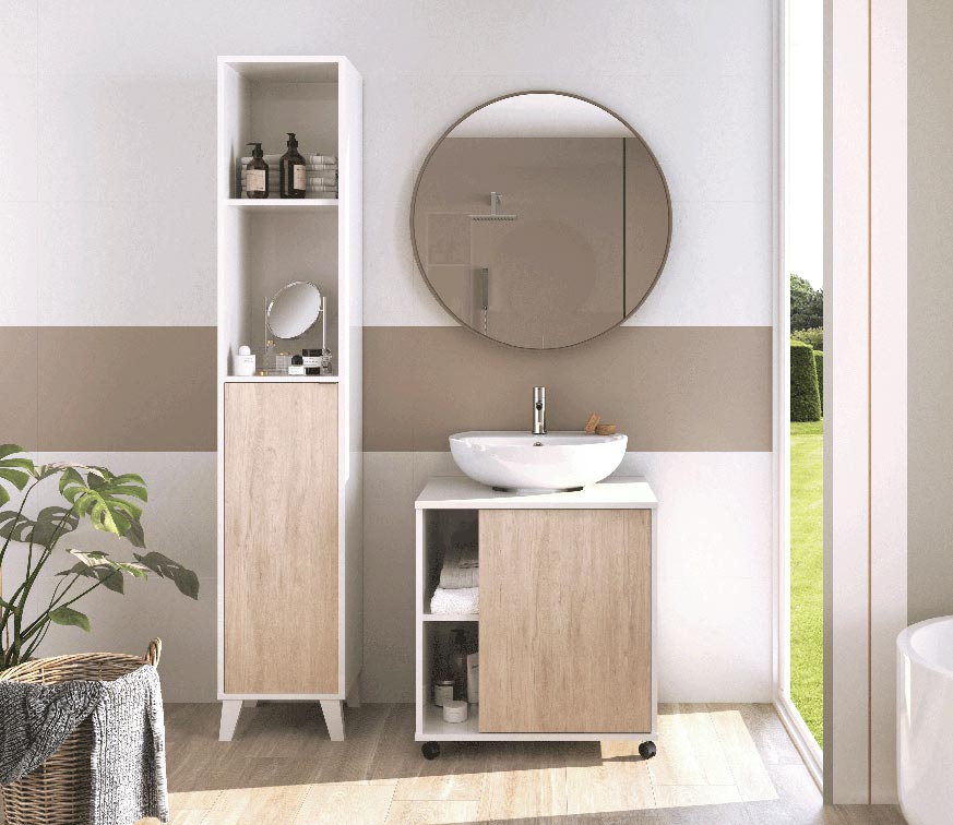 Muebles para guardar toallas en el baño y accesorios ...